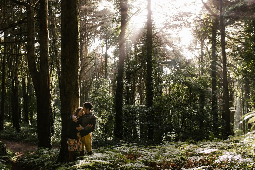 gorgeous engagement photo in nature