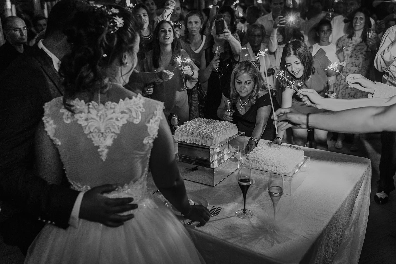 sparkles no corte do bolo