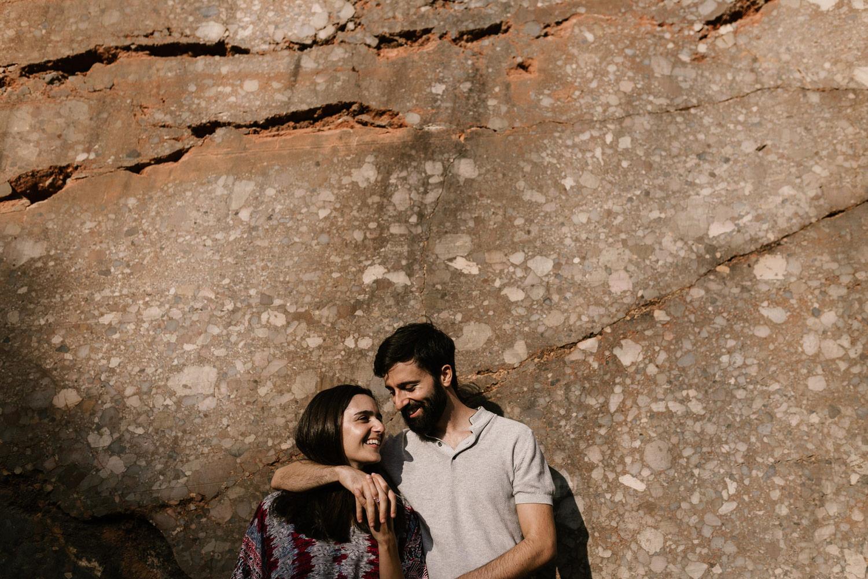 elegante retrato de sessão de namoro na Serra da Arrábida