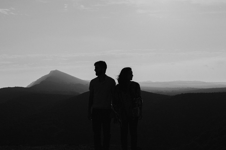 retrato artístico de casal jovem