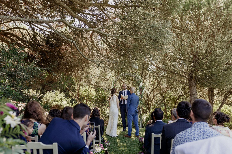 cerimónia de casamento ao ar livre em Sintra