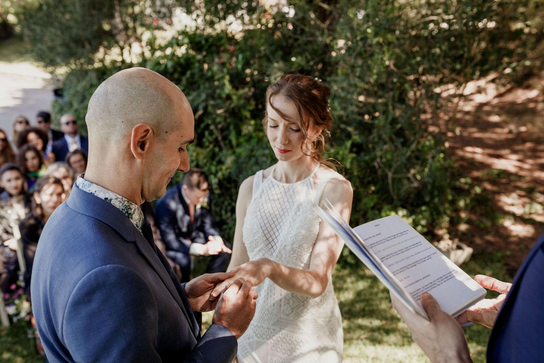 troca de alianças de casamento
