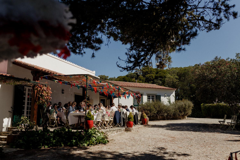 """fotografia do local do casamento servido pelo catering """"fora de casa"""""""