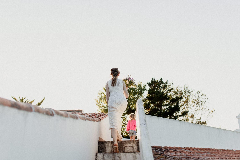 noiva sobe para terraço da casa das xaras