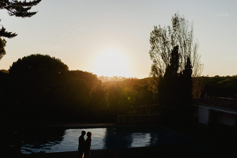 sombra dos noivos ao por do sol lindo de Sintra
